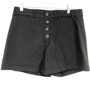 Old Navy Button High Rise Charcoal Chino Shorts 10